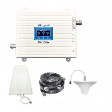 Tri band 2G GSM, 3G W-CDMA, 4GLTE Mobile Signal Booster Repeater + Ceiling/Log