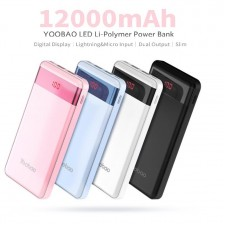 Yoobao PL12Pro Power Bank 12000 mAh AIR Power Pack Slim and Portable