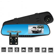 Full HD 1080P Car Dvr Camera Auto 4.3 Inch Mirror Digital Video Recorder
