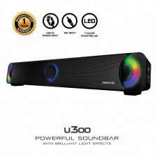 SonicGear U300 Powerful Sound Bar Speakers with Brilliant Light Effects