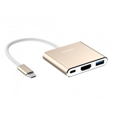 Apacer DH610 USB 3.1 Type-C to USB 3.1 + HDMI + Type-C Hub Converter / Adapter