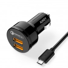 CC-T8 Dual Port Qualcomm Quick Charge 3.0 Car Charger