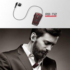Remax RB-T12 CSR Bluetooth v4.0 Clip On Retractable Bluetooth Wireless Headset