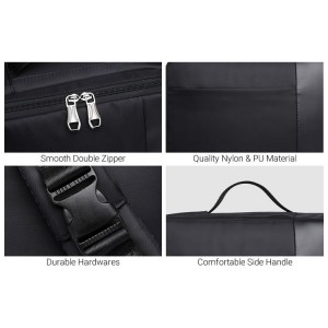Unisex 3 Ways Carrying Smooth Material Quality Box Laptop Backpack