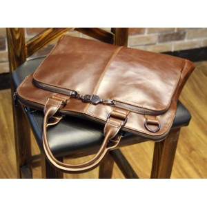 Korean Le Vogue Men Briefcase Leather Bag Tote/Sling Handbag