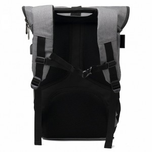 Men Stylist Rolltop Anti Theft Travel Laptop Backpack School Bag