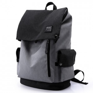 Unisex City Elite Urban Design Simple Black / Grey Laptop Backpack