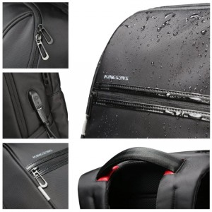 15.6 inches Laptop Backpack with USB Charging Port
