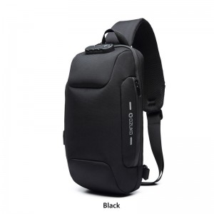Anti-Theft Chest Sling Bag with USB