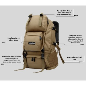 Outdoor Local Lion Hiking Backpack - HANDLESS (40L)