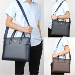 Man Formal Quality Pu Leather Office Bag Men Hand Carry Sling Beg