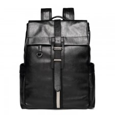 Casual Leather Backpack Laptop Bag Light Weight Waterproof Travel Bag 183