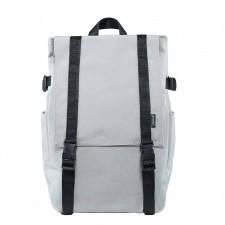 Printed Logo Strap Double Buckle Backpack