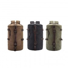 Outdoor Hiking Casual Travel Cylinder Canvas Backpack