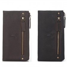 Genuine Cow Leather Unisex Long Wallet