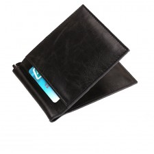Bag Money Clip Trendy Wallet RFID Leather ID Mini Slim Casual Business Credit Card Holder
