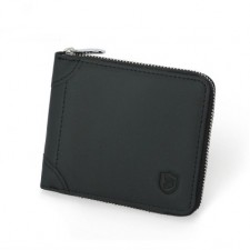 Leather Men RFID Blocking Zipper Wallet Purse with Coins Compartment