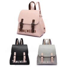 Korean Style 936 PU Leather Backpack