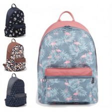 LA4 Pinky Blue Flamingo Fashion Casual Backpack College Student Bag ABP