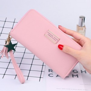 Forever Young Simple Stylish Zip Lady Long Purse Ready Stock