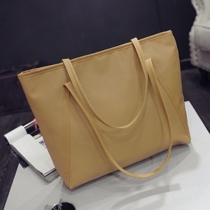 Korean PU Leather Large Tote Bag Women Handbag Handbeg Wanita