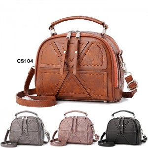 Synthetic Leather Tote Bag Solid Women Girls Sling Bag