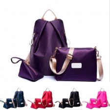 Nylon 3 in 1 Beg Casual School Bag Sling Pouch Anti Theft