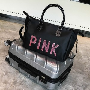 Pink Vict Luggage Sling Bag Shoulder Bags Tote Beg Travel
