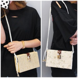 Tikai Lock Square Sling Bag Shoulder Handbag Bags Travel Beg