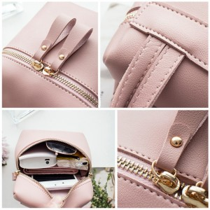 Small Colorful Double Zip Sling Bag Shoulder Beg Tangan
