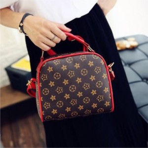 Rectangle Flower PU Bags HandBag Sling Bag Beg Tangan Tote