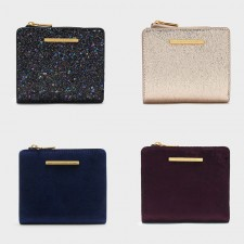 Charles & Keith Flicker textured Square Short Wallet Snap Button Purse