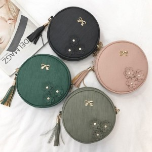 F4 Round Sling Bag Shoulder Beg Tangan Korea Bags Handbag