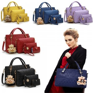 Bagstyle B04 Set Of 5 Crocodile Leather Sling Hand Bag