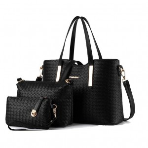 3 In 1 Europe Style PU Leather Handbag Set Beg Tangan