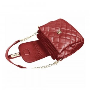 Quilted PU Leather Bucket Sling Bag Beg Tangan