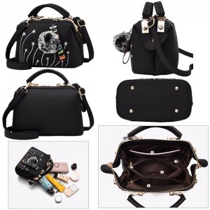 Women Synthetic Leather Handbag Shoulder Bags Messenger Hobo Bag Beg Tangan