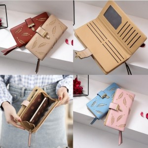 Fashion Women Travel Long Purse Wallet Dompet Card Holder Beg Bag Handbag