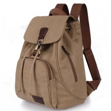 Canvas Backpack Student Bag Bookbag School Casual Large Size