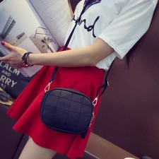 Women Soft Leather Simple Small Square Sling Bag