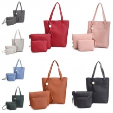 3 in 1 Retro Bags Set PU Shoulder Sling Pouch Beg