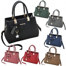 Lady Handbag Womens Synthetic Leather Tote Shoulder Bags Sling Bag