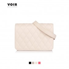 New Fashion VOIR Quilted Sling Bag with Front Flap Closure Beg Tangan