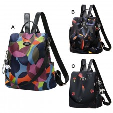 Casual Anti Theft Oxford Canvas Student Women College Backpack Bag