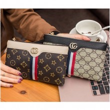 3 Line CG Long Purse Lady Women's Zip Purse Woman Wallet