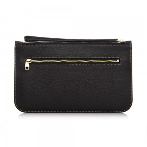Black Nermina Long Zipper Pouch Beg Tangan