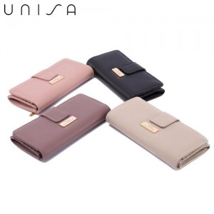 UNISA Ladies Faux Leather Bi-Fold Long Wallet