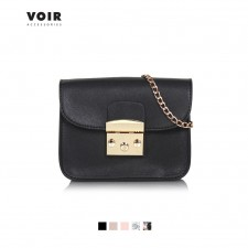 VOIR Sling Bag featuring Front Flap and Chain Strap