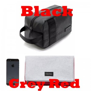 Jeans Men's and Women's Black Toiletry Makeup Bag Cosmetic Bag