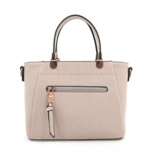Carlo Rino Petite First Love Monogrammed Top Handle - Beige